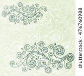 vintage floral backdrop. | Shutterstock .eps vector #476760988