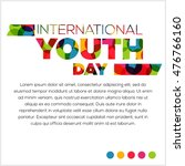 international youth day poster... | Shutterstock .eps vector #476766160