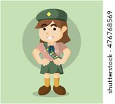 scout girl illustration design | Shutterstock .eps vector #476768569