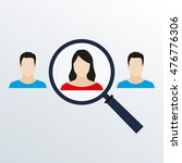 customer target and human... | Shutterstock .eps vector #476776306