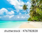 beautiful tropical maldives... | Shutterstock . vector #476782828