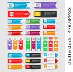 set of banners for the sale of... | Shutterstock .eps vector #476784433