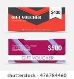 template of gift vouchers in... | Shutterstock .eps vector #476784460