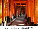 the thousand torii gates in... | Shutterstock . vector #47678578