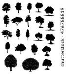silhouettes of assorted trees... | Shutterstock . vector #476788819
