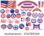red and blue patriotic american ... | Shutterstock . vector #476789104