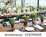 a table of a restaurant with... | Shutterstock . vector #476790049