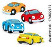 vector set. cute colorful cars. | Shutterstock .eps vector #476800876