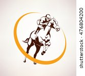 horse race stylized symbol ... | Shutterstock .eps vector #476804200