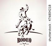 bull rodeo symbol  stylized... | Shutterstock .eps vector #476804218