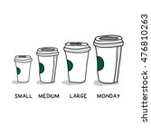 small medium large monday funny ... | Shutterstock .eps vector #476810263