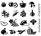 set of fruits and vegetables ... | Shutterstock . vector #476830270