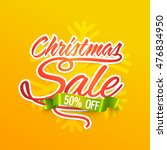 christmas sale banner  special... | Shutterstock .eps vector #476834950