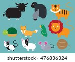 cute animal icon set | Shutterstock .eps vector #476836324