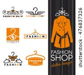 fashion shop logo   orange... | Shutterstock .eps vector #476837326