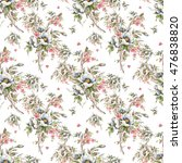 watercolor seamless pattern... | Shutterstock . vector #476838820