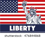 statue of liberty  usa map ... | Shutterstock .eps vector #476844868