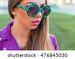 stylish glamorous girl in... | Shutterstock . vector #476845030