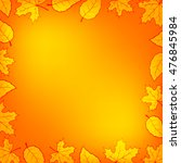autumn leaves gradient... | Shutterstock . vector #476845984