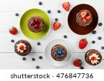 delicious chocolate cupcakes on ... | Shutterstock . vector #476847736