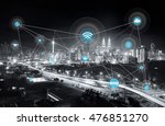 smart city and wireless... | Shutterstock . vector #476851270