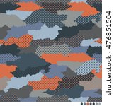 abstract camouflage pattern... | Shutterstock .eps vector #476851504