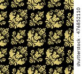 damask vector classic golden... | Shutterstock .eps vector #476852110
