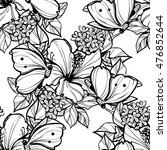 abstract elegance seamless... | Shutterstock . vector #476852644