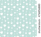 seamless background hearts.... | Shutterstock . vector #476856880