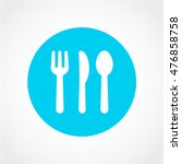 cutlery icon isolated on light... | Shutterstock .eps vector #476858758