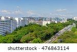 aerial view hdb housing complex ...   Shutterstock . vector #476863114