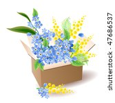opened box with different... | Shutterstock .eps vector #47686537