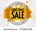 christmas sale words cloud ... | Shutterstock .eps vector #476866306