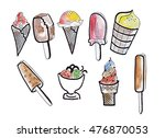 illustration sketch different... | Shutterstock . vector #476870053