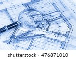 architecture blueprint    house ... | Shutterstock . vector #476871010