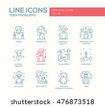 set of modern plain line design ... | Shutterstock . vector #476873518