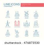 set of modern plain line design ... | Shutterstock . vector #476873530