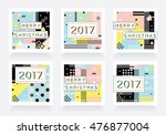 merry christmas and happy new... | Shutterstock .eps vector #476877004