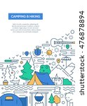 camping and hiking   vector... | Shutterstock .eps vector #476878894