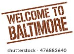 welcome to baltimore | Shutterstock .eps vector #476883640