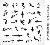 hand drawn arrows  vector set | Shutterstock .eps vector #476884189