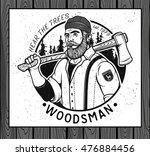 lumberjack template logo.... | Shutterstock .eps vector #476884456