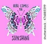 ethnic butterfly | Shutterstock .eps vector #476885599