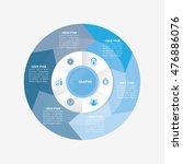 infographic template pie blue...   Shutterstock .eps vector #476886076
