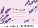lavender natural cosmetics... | Shutterstock .eps vector #476888230