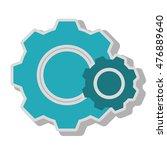 gear wheel team work isolated   Shutterstock .eps vector #476889640