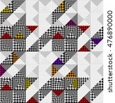 seamless hounds tooth pattern... | Shutterstock .eps vector #476890000