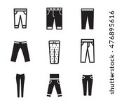 pants vector icons. simple... | Shutterstock .eps vector #476895616