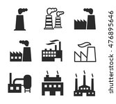 factory vector icons. simple...