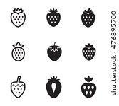 strawberry vector icons. simple ...